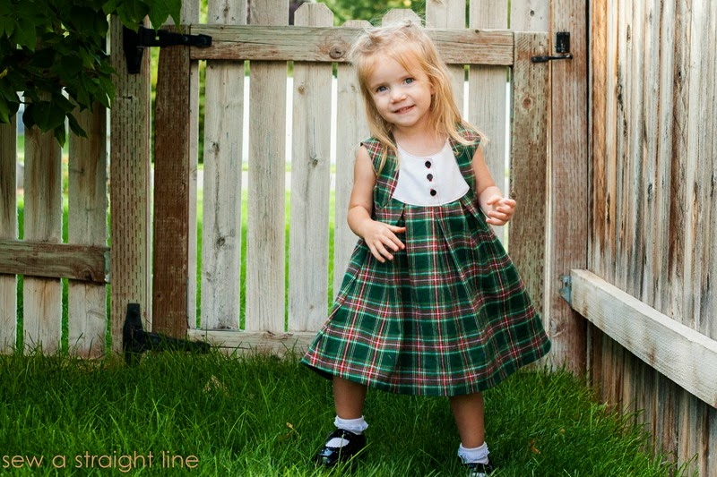 plaid fawn lilly dress Sew a Staight Line-4