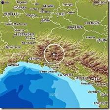 Terremoto in Liguria