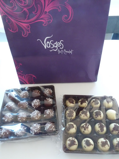 Vosges truffles added some exciting flavor to the presentation.
