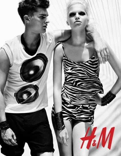Paolo Anchisi and Daphne Groeneveld for H&M Season of Sun 2012 ad campaign