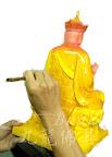 神像佛像的重新整理安金按金-慈悲地藏王菩薩整理-中間過程 -上乾漆