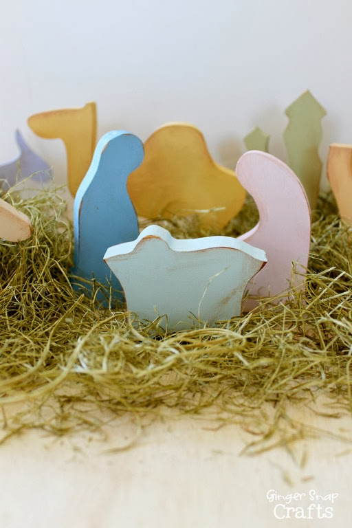 painted nativity #ad