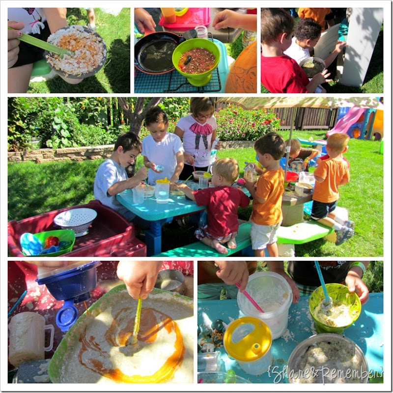 Preschool Out door play kitchen fun