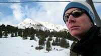 Ben on the ski lift