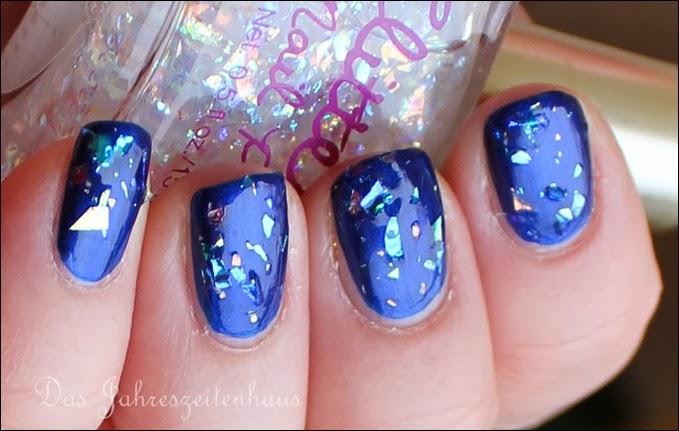 0 Blaue Flakies H&M Glitzerlack weiß 2