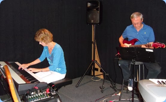 Denise and Brian Gunson gave a thirty minute performance - Denise on the Korg piano and Brian on his G & L electric guitar.