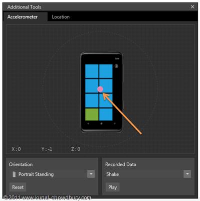 WP7.1 Demo - Accelerometer Tool