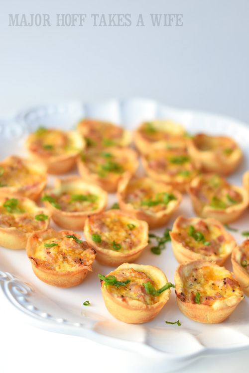Entertaining made easy Mini ham puffs on a cake stand make an elegant display