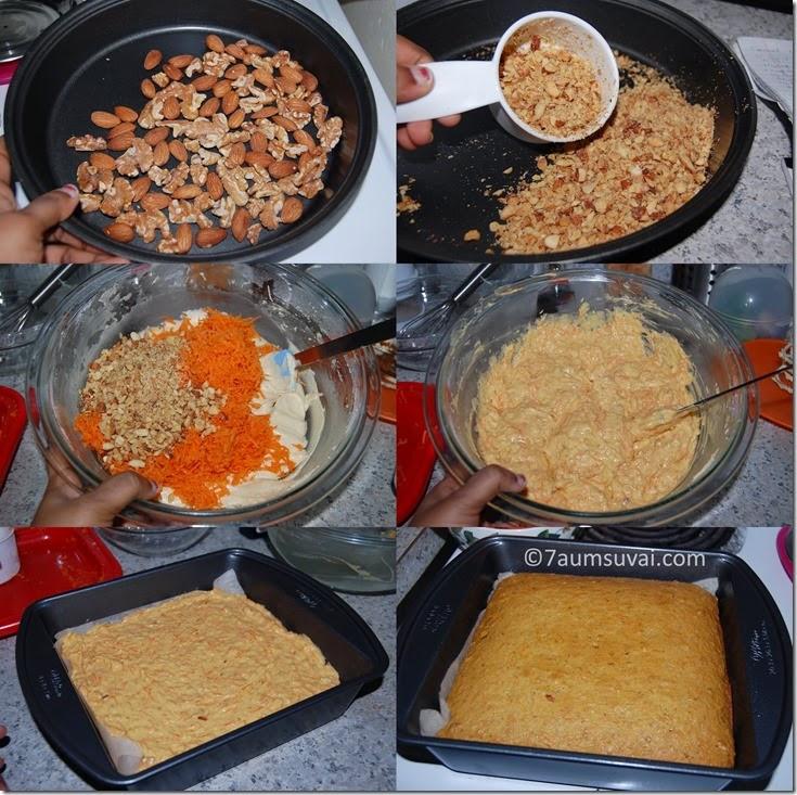 Carrot cake process 1