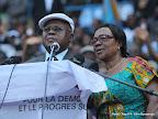 – De gauche à droite,Etienne Tshisekedi et son épouse le 9/8/2011 au stade des martyrs à Kinshasa. Radio Okapi/ Ph. John Bompengo