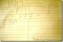 ninas handwriting paper