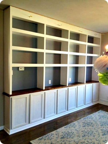 DIY Built Ins With Bases