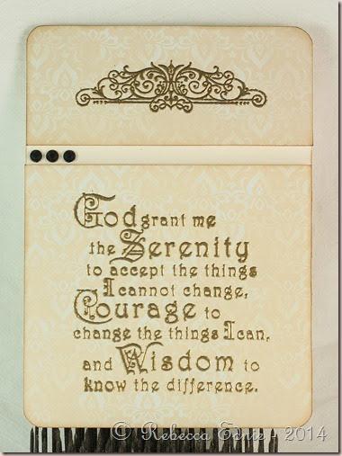 serenity prayer pocket card insert