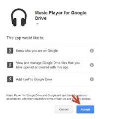 เปิดไฟล์เสียงเล่นใน Google Drive ใน chorme