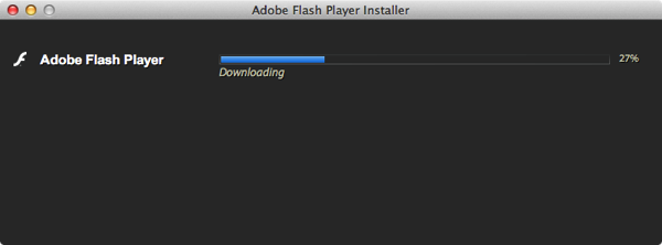 Adobe flash player downloading