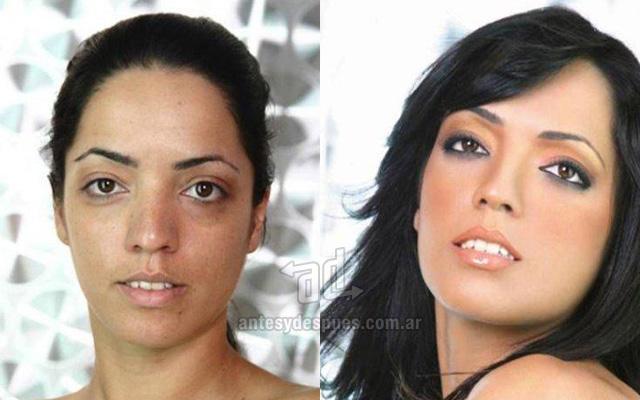 Antes y despues del maquillaje 5