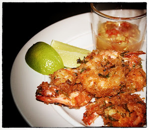 Ginger and coriander prawns with sweet chili sauce
