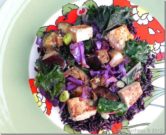 Kale and Black Rice Stir-Fry - Savoring Italy