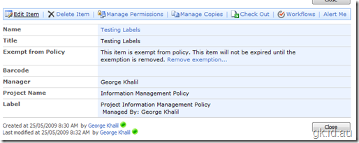SharePoint and Information Management Policies sharepoint 2007 sharepoint