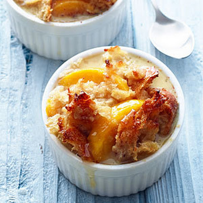Peach Bread Pudding