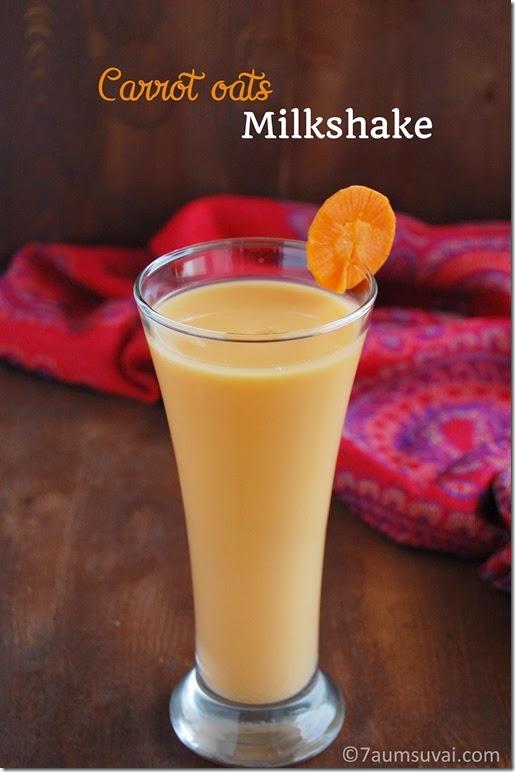 Carrot oats milkshake