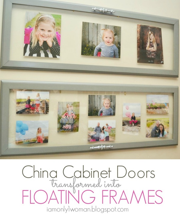DIY China Cabinet Frames by I Am Only 1 Woman
