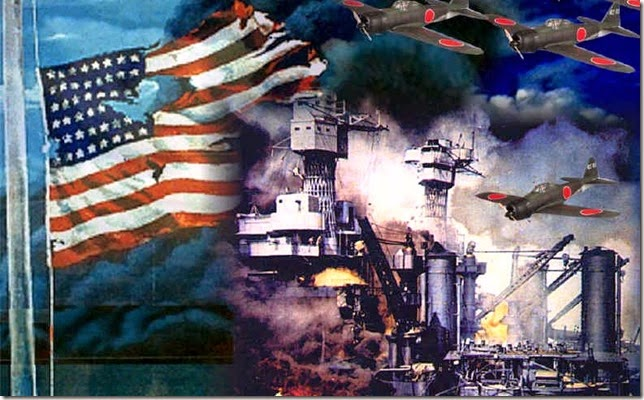 pearl harbor-flag & ship