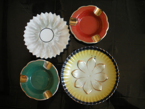 Artistic ashtrays and stylish saucers.