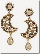 Oscar de la Renta Gold Plated Lunar Earrings