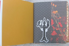 Halloween witching hour journal crow on candleabra page