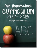 Homeschool Curriculum 2012-13