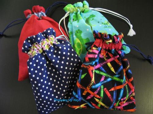 saquinhos de tecido