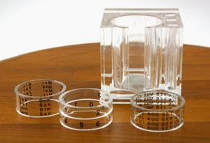 4 language acrylic calendar and desk container
