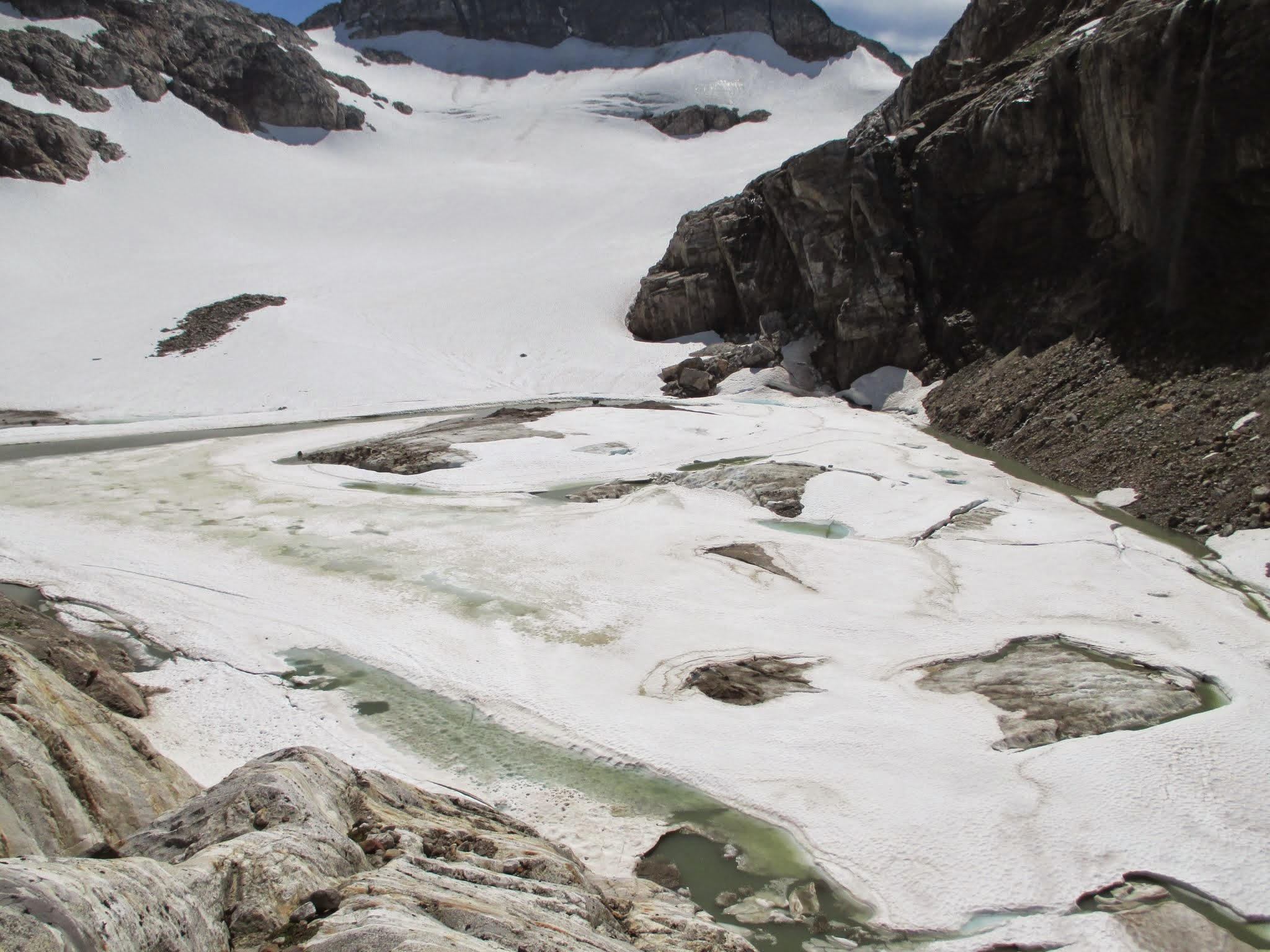 new lake at Colonial Glacier terminus