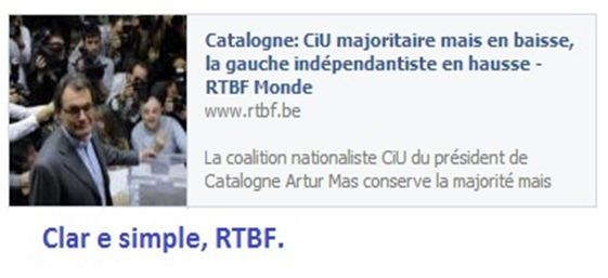 RTBF Eleccions Catalonha