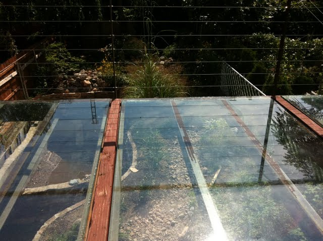 Salvaged Glass Deck