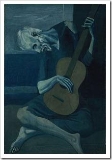 picasso oldguitarist blue period