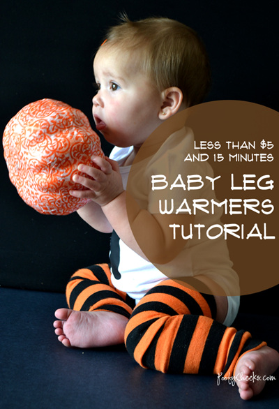 Baby Leg Warmer Tutorial #sewing #baby