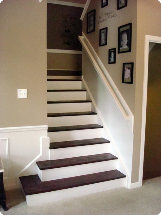 the stair redo how to from thrifty decor chick