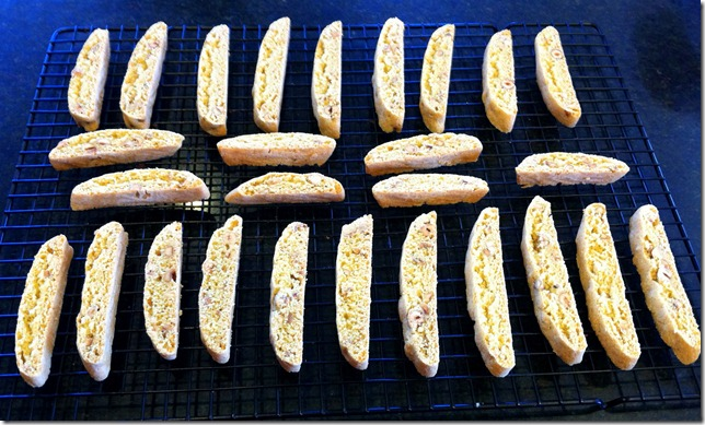 Hazelnut Biscotti after second bake