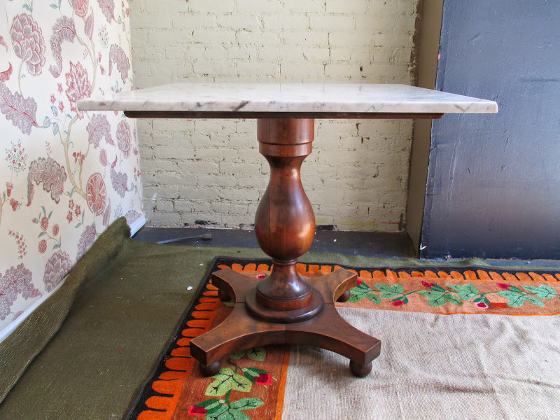Marble Top Pedestal Table 1