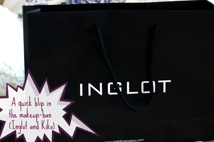 makeup haul inglot and kiko cosmetics