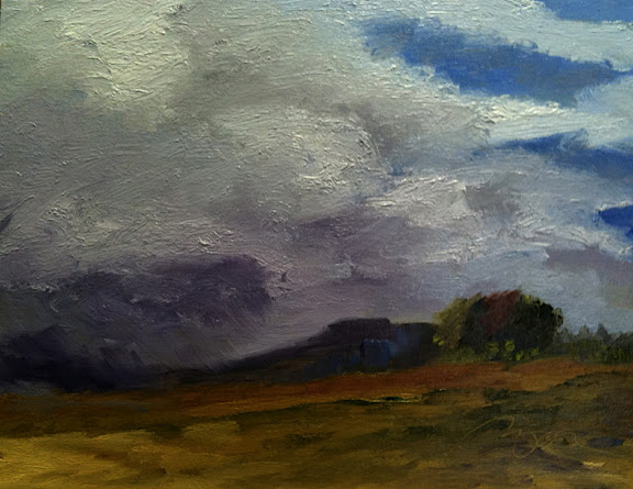 Rain on the Hill 11 x 14