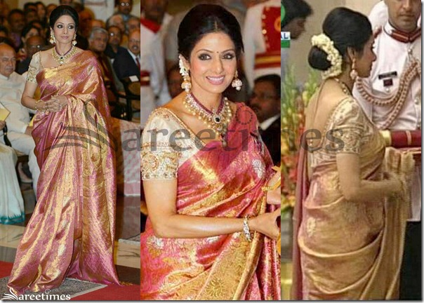Sridevi_Pink_Traditional_Silk_Saree
