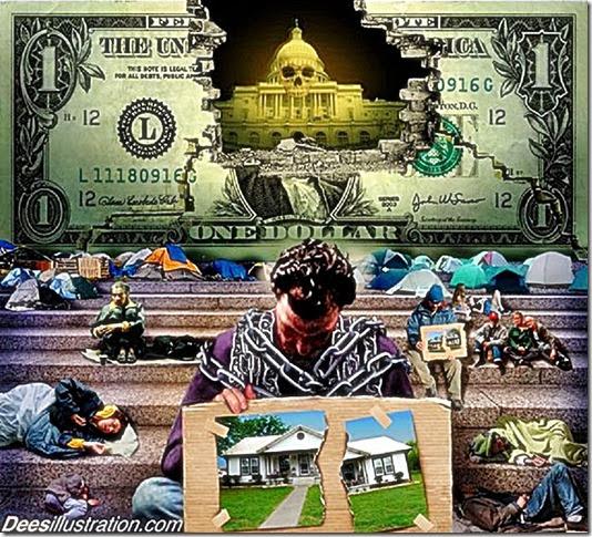 Economic Collapse view. DeesIllustration