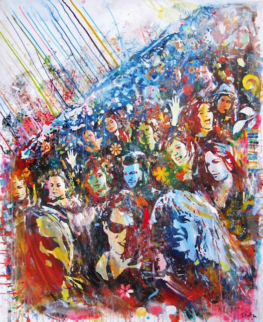 Sea Of Audience 1 - 120 x 150 cm. -2011 - kr. 40.000,-