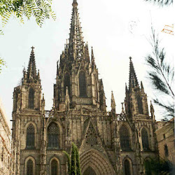 24.- Fachada de la catedral de Barcelona. Neogótico