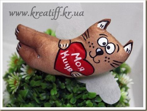 Магнит Влюбленный кот