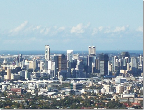 July in Brisbane cbd from mt coot-tha