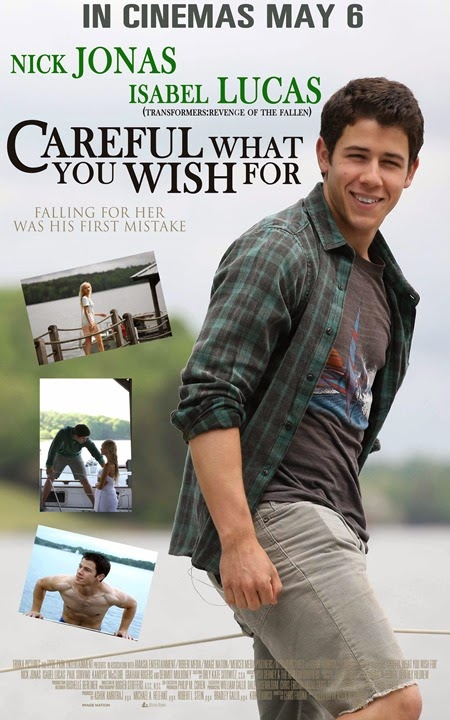 Nick Jonas in Careful What You Wish For poster